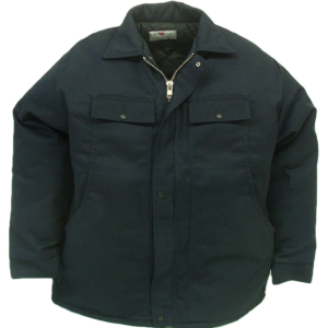 Quilt Lined Parka.  These parkas are made out of a durable 7.5 oz. 65%polyester/35% cotton blend twill fabric and lined with 5 oz. 100% polyester quilted lining.  ~Made in Canada  ~2 chest pockets  ~2 front patch pockets  ~one inside pocket  ~2-way #10 YKK nickel zipper  ~domed front flap zipper closure  ~adjustable domed cuffs    Available in navy    Sizes and Pricing:  Size S, M, L and XL ~ $82.67  Size XXL, and 3XL ~ $88.00    Tall sizes will have a $2.85 surcharge.