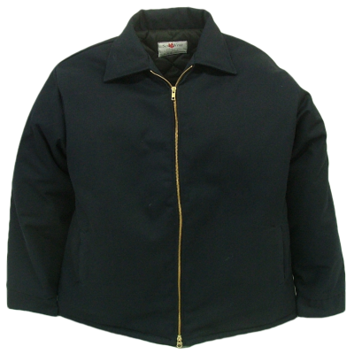 Durable work jacket. These jackets are made of  7.5 oz. 65%polyeser/35% cotton blend twill fabric and lined with a 5 oz. 100% polyester quilted lining.  ~Made in Canada  ~2-way brass YKK zipper  ~2 front insert pockets  ~adjustable domed cuffs  ~machine washable    Available in: navy, black, green    Sizes and Pricing:  Size: S, M, L, XL ~ $60.73  Size XXL, 3XL ~ $63.77    Tall sizes will have a $2.85 surcharge    Also available:  Lightweight Work Jacket. Item # 1010   These jackets are made of  7.5 oz. 65%polyeser/35% cotton blend twill fabric and lined with a 4 oz. poplin lining.  ~Made in Canada  ~2-way brass YKK zipper  ~2 front insert pockets  ~adjustable domed cuffs  ~machine washable  Available in: navy, black, green  Sizes and Pricing:  Size: S, M, L, XL ~ $45.31  Size XXL, 3XL ~ $48.17    Tall sizes will have a $2.85 surcharge