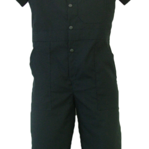 Short Sleeve coveralls for children. These coveralls are made with a lightweight 65% polyester/35% cotton blend poplin fabric.  ~Made in Canada  ~one chest pocket  ~two front pockets  ~two rear hip pockets  ~domed front closure  ~machine washable    Colors available:  navy    Sizes and Pricing:  Size 2 and 4 ~ $25.55  Size 6 and 8 ~ $26.53  Size 10 and 12 ~ $28.52  Size 14 and 16 ~  $31.45